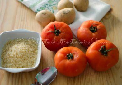 Ricetta vegana: Pomodori al forno ripieni di riso e patate